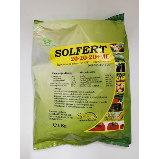 Solfert 20-20-20 + ME - 1 KG.